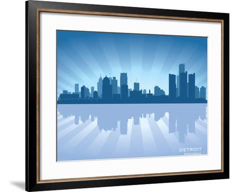 Detroit, Michigan Skyline-Yurkaimmortal-Framed Art Print