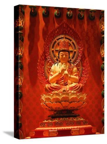 Buddha In Chinese Temple-Sira Anamwong-Stretched Canvas Print