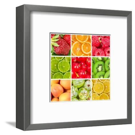 Collage Of Fresh Fruits-Natalyka-Framed Art Print