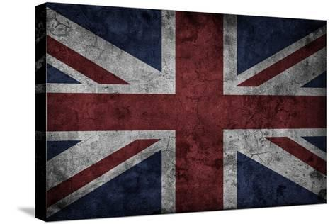 Grunge Uk National Flag-Spaxia-Stretched Canvas Print