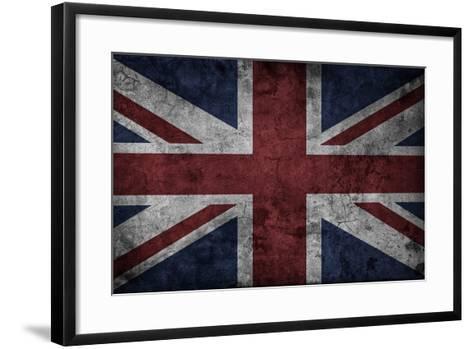 Grunge Uk National Flag-Spaxia-Framed Art Print