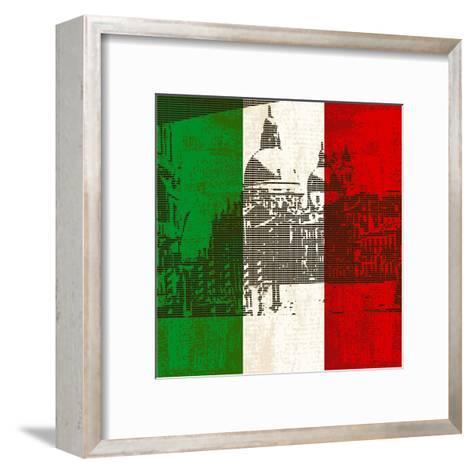 Italian Flag And Venice-Petrafler-Framed Art Print
