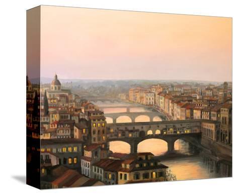 Florence Ponte Vecchio-kirilstanchev-Stretched Canvas Print