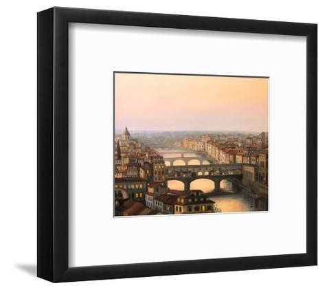 Florence Ponte Vecchio-kirilstanchev-Framed Art Print