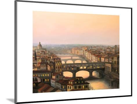 Florence Ponte Vecchio-kirilstanchev-Mounted Art Print