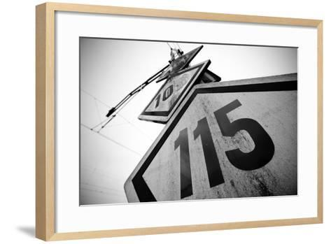 Speed Limit Railway Signpost-ABB Photo-Framed Art Print