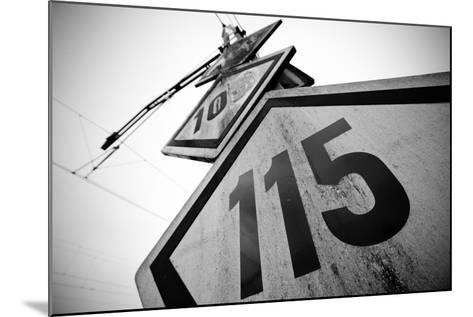 Speed Limit Railway Signpost-ABB Photo-Mounted Art Print