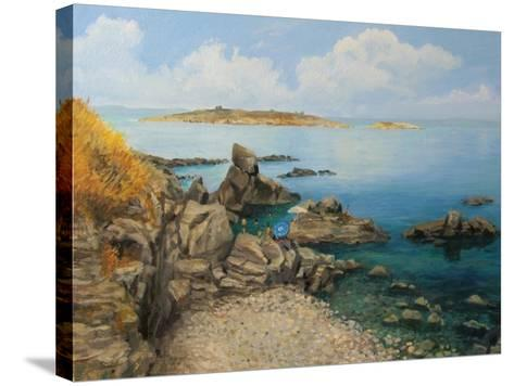Summer At Sozopol'S Seacoast-kirilstanchev-Stretched Canvas Print