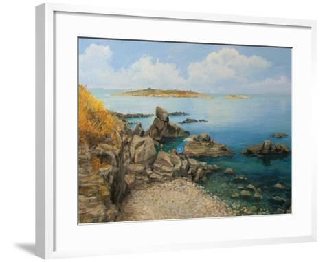 Summer At Sozopol'S Seacoast-kirilstanchev-Framed Art Print