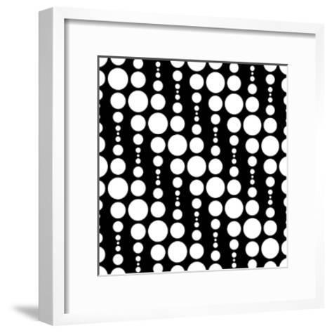 Monochrome Geometric Design-Maksim Krasnov-Framed Art Print