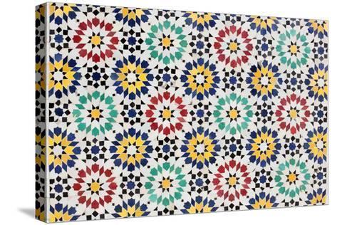 Colorful Mosaic Decoration-p.lange-Stretched Canvas Print