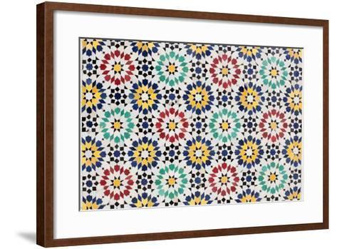 Colorful Mosaic Decoration-p.lange-Framed Art Print