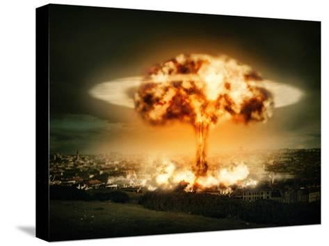 Explosion Of Nuclear Bomb-egal-Stretched Canvas Print