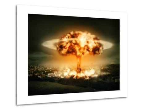 Explosion Of Nuclear Bomb-egal-Metal Print