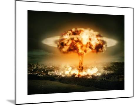 Explosion Of Nuclear Bomb-egal-Mounted Art Print