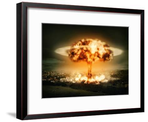 Explosion Of Nuclear Bomb-egal-Framed Art Print