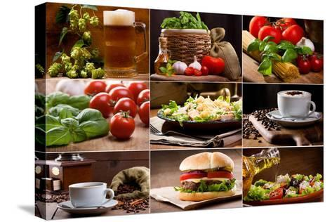 Food And Drink Collection-Nitr-Stretched Canvas Print