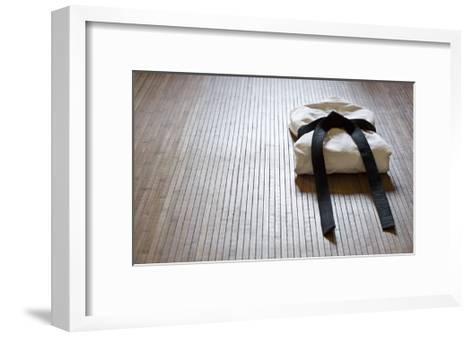 Judo Gi With Copy Space-grapix-Framed Art Print