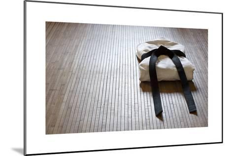Judo Gi With Copy Space-grapix-Mounted Art Print