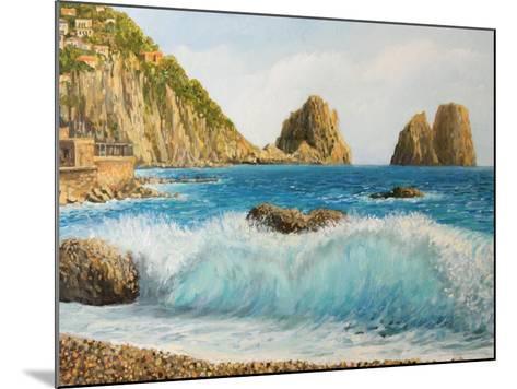 Faraglioni On Island Capri-kirilstanchev-Mounted Art Print
