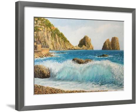 Faraglioni On Island Capri-kirilstanchev-Framed Art Print
