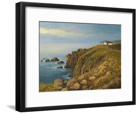 Land'S End In Cornwall-kirilstanchev-Framed Art Print