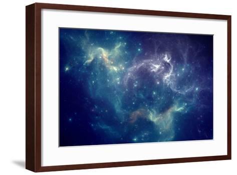 Colorful Space Nebula-pitris-Framed Art Print