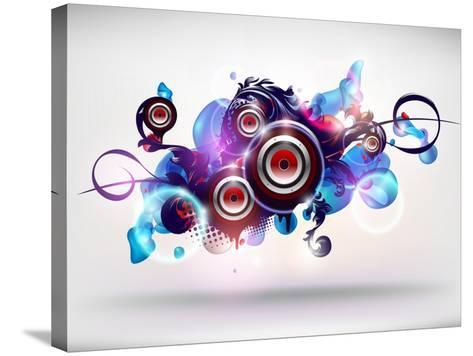 Abstract Loudspeakers-theromb-Stretched Canvas Print