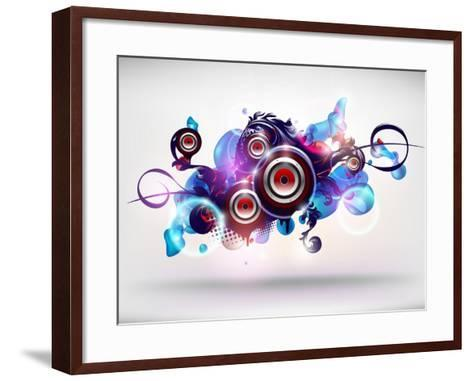 Abstract Loudspeakers-theromb-Framed Art Print
