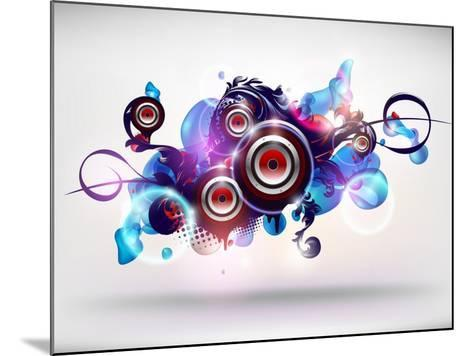 Abstract Loudspeakers-theromb-Mounted Art Print
