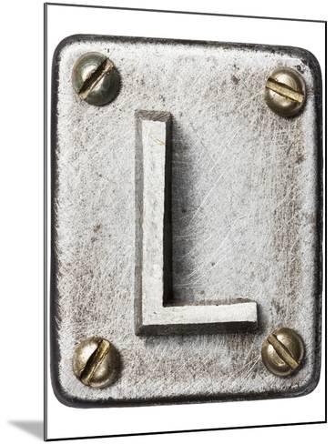 Old Metal Alphabet Letter L-donatas1205-Mounted Art Print
