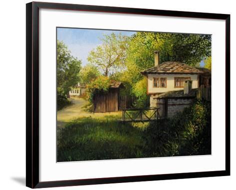 Late Afternoon In Bojenci-kirilstanchev-Framed Art Print