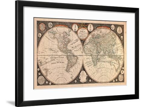 High-Quality Antique Map-megastocker-Framed Art Print