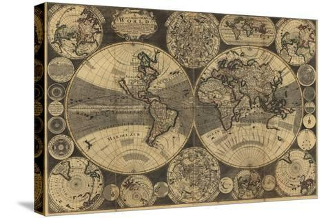 High-Quality Antique Map-megastocker-Stretched Canvas Print