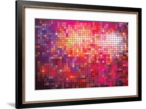 Point Mosaic Background-Kundra-Framed Art Print