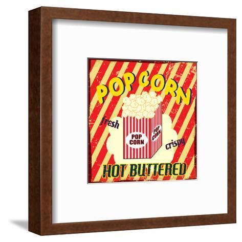 Pop Corn Vintage Poster-radubalint-Framed Art Print