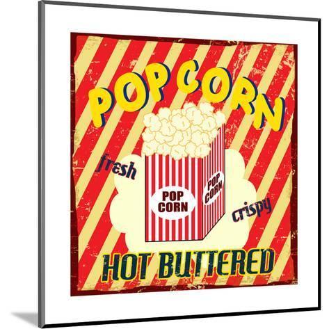 Pop Corn Vintage Poster-radubalint-Mounted Art Print