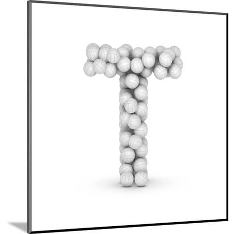 Letter T, From Voleyballs-iunewind-Mounted Art Print