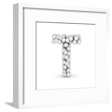 Letter T, From Voleyballs-iunewind-Framed Art Print