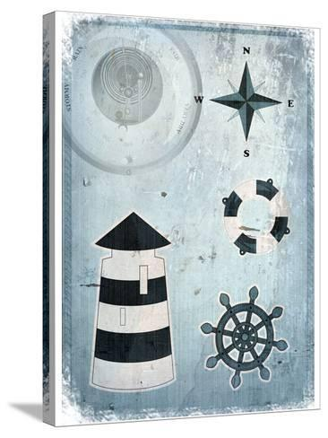 Marine Grunge Background-elfivetrov-Stretched Canvas Print