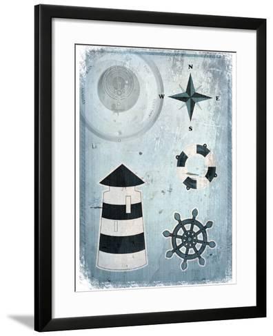 Marine Grunge Background-elfivetrov-Framed Art Print