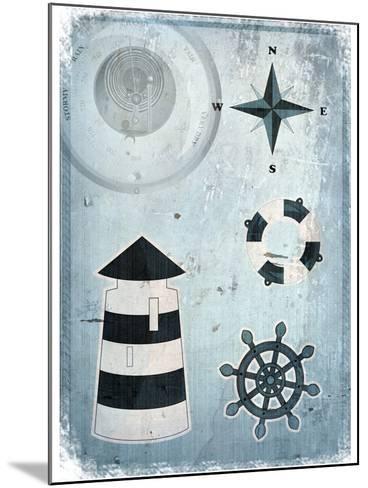 Marine Grunge Background-elfivetrov-Mounted Art Print