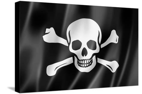 Pirate Flag, Jolly Roger-daboost-Stretched Canvas Print