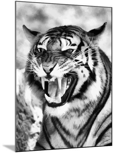 Angry Tiger Face-Snap2Art-Mounted Art Print