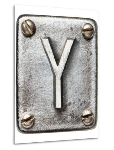 Old Metal Alphabet Letter Y-donatas1205-Metal Print