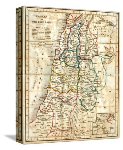 Old Map Of The Holy Land-Tektite-Stretched Canvas Print