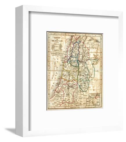 Old Map Of The Holy Land-Tektite-Framed Art Print