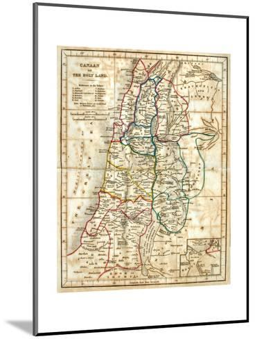 Old Map Of The Holy Land-Tektite-Mounted Art Print
