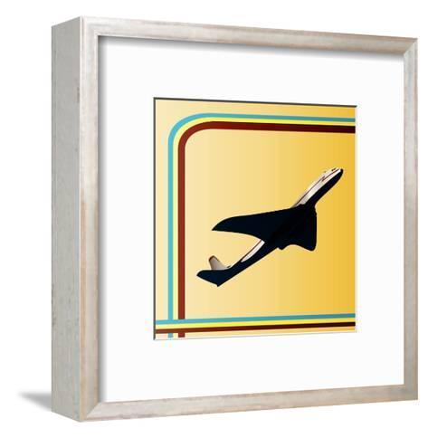 Retro Airliner Backgroun-Petrafler-Framed Art Print