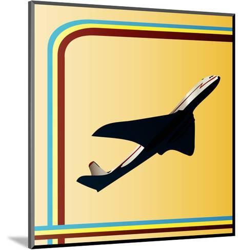 Retro Airliner Backgroun-Petrafler-Mounted Art Print